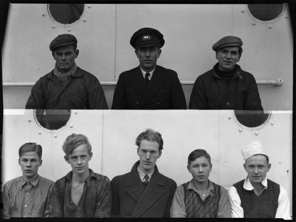 Sju besättningsmän på ett fartyg